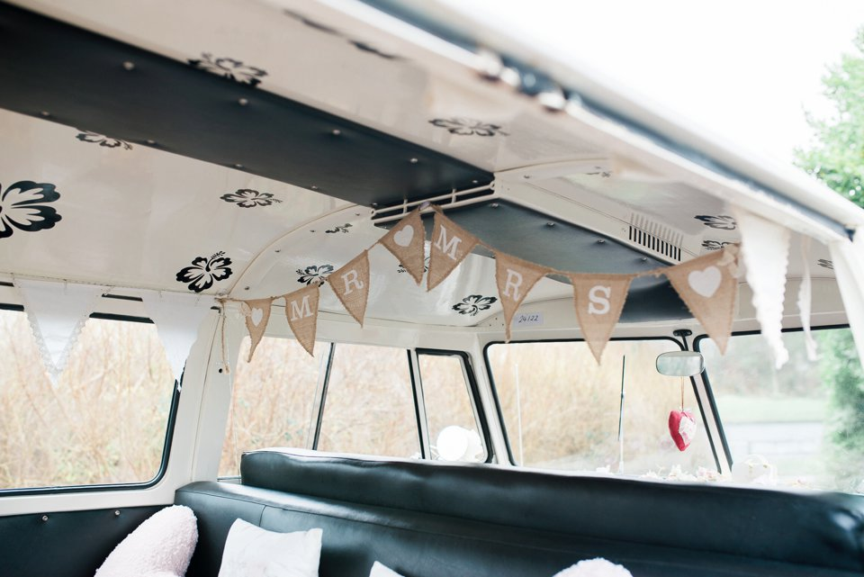 VW Campervan interior for wedding