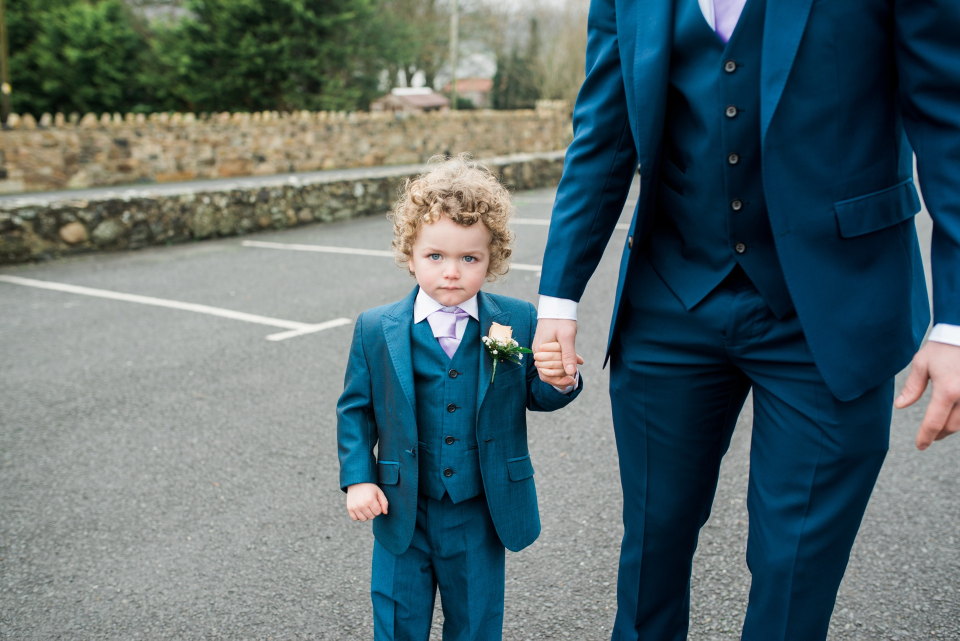 Photo of pageboy suit