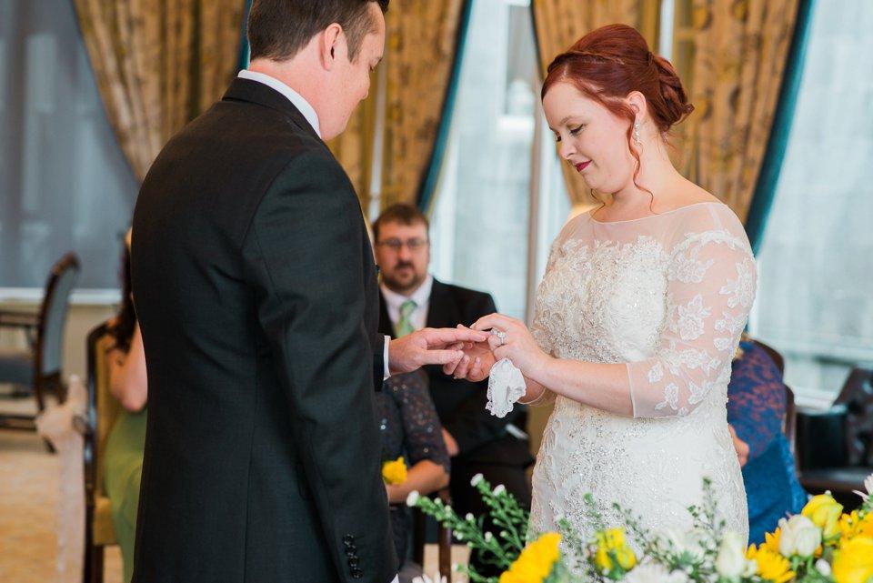 Dromoland Castle intimate american wedding