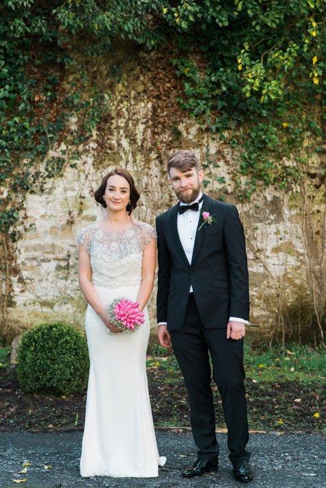 Bride and groom at farnham estate