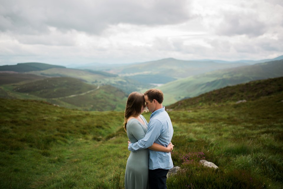 Wicklow mountains engagement shoot