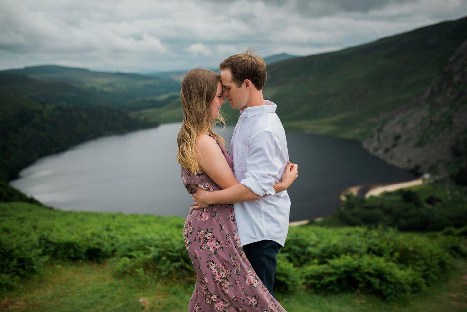 Engagement shoot at Lough Tay