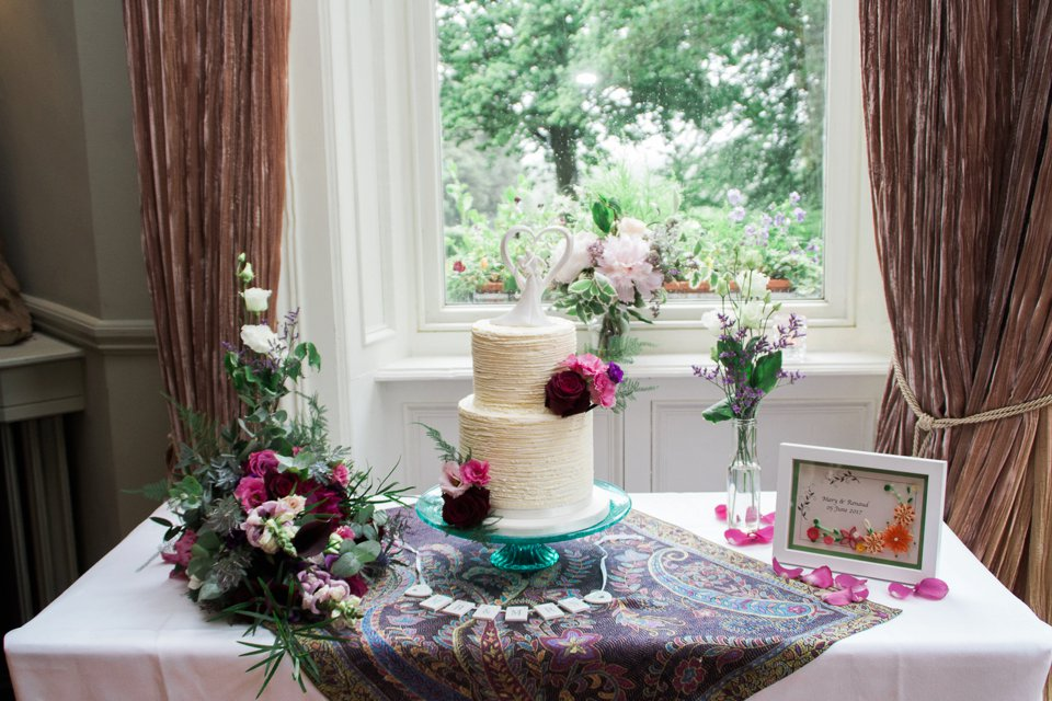 Wedding cake table at Tinakilly House