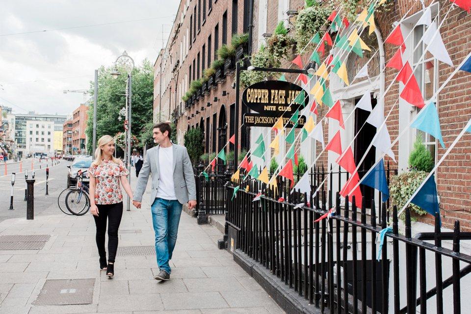 Couple walking beside Copper Face Jacks