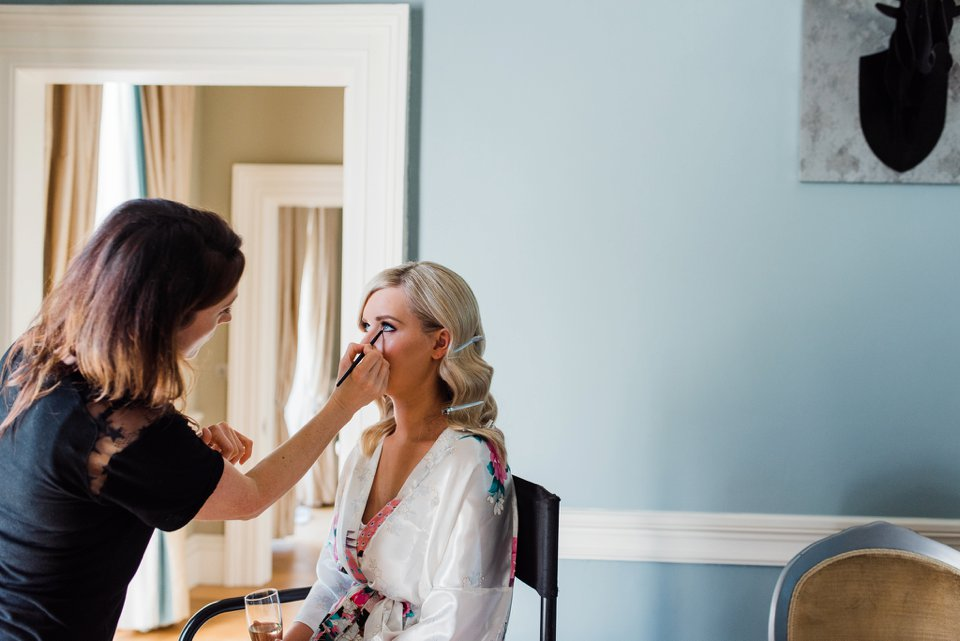 Bride getting ready in Carton House
