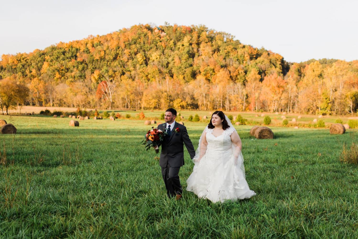 Autumn barn wedding tennessee