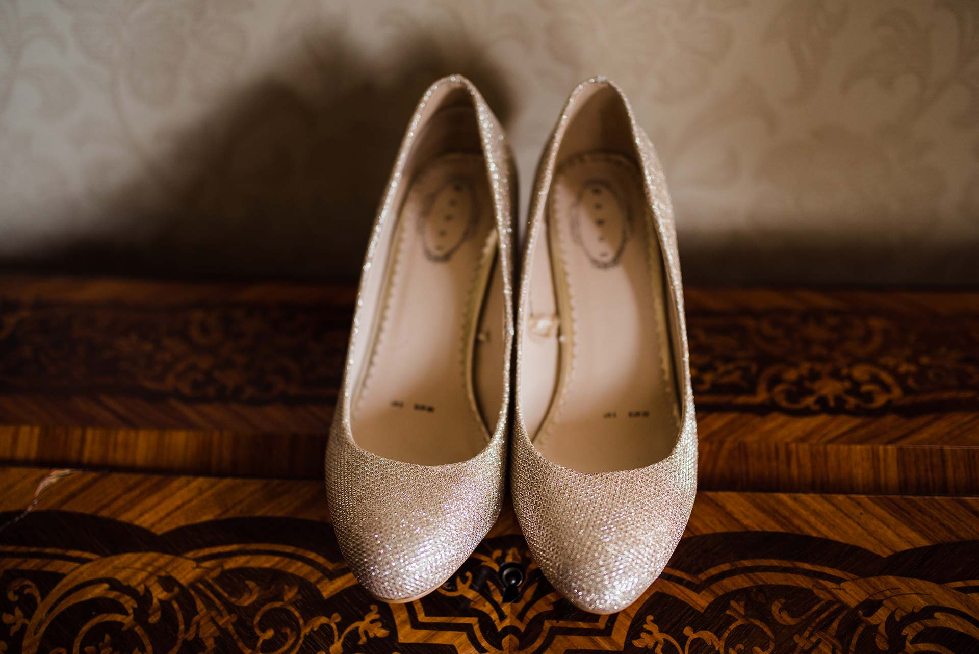 detail of wedding shoes