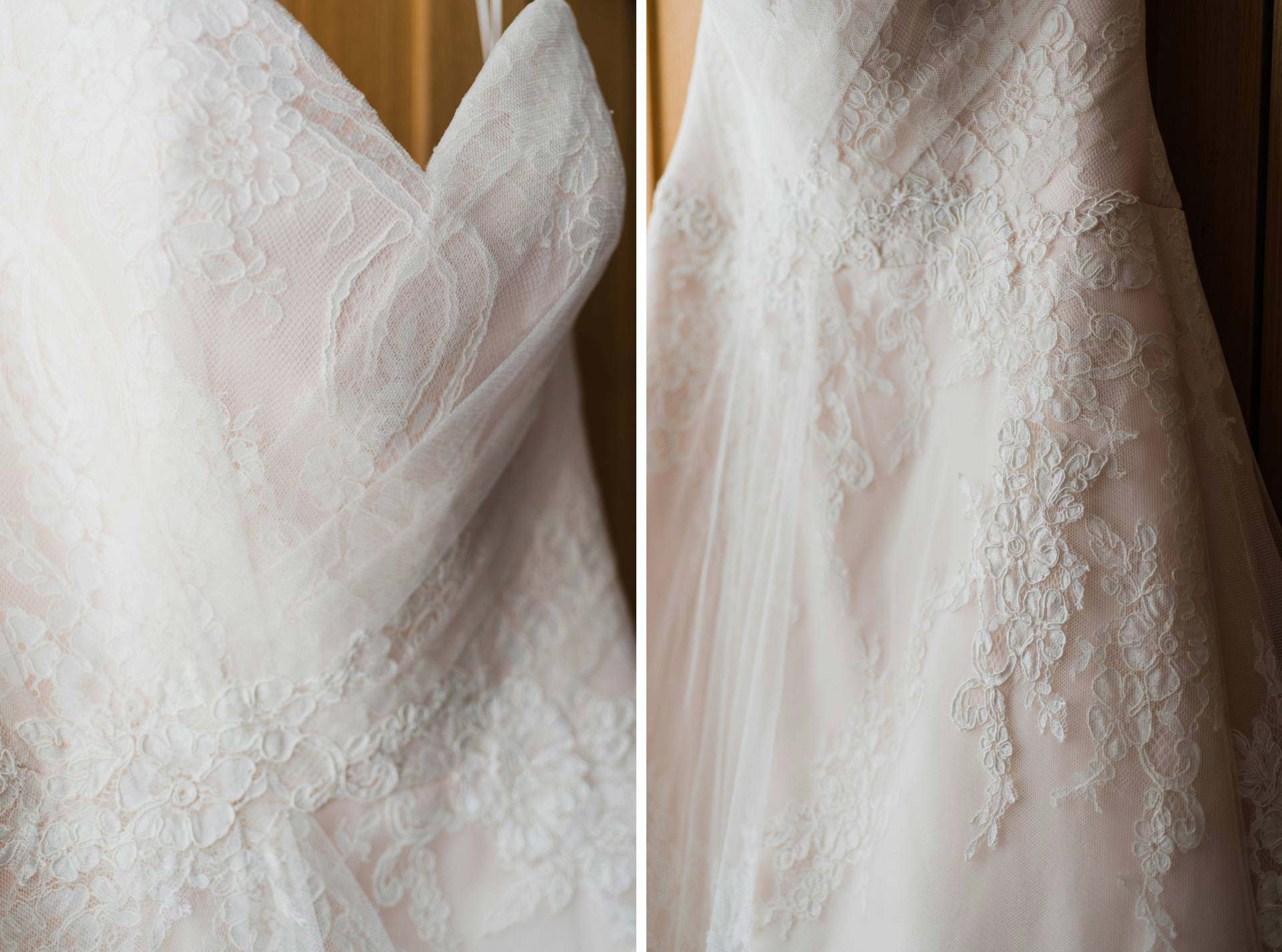 details portraits of wedding gown