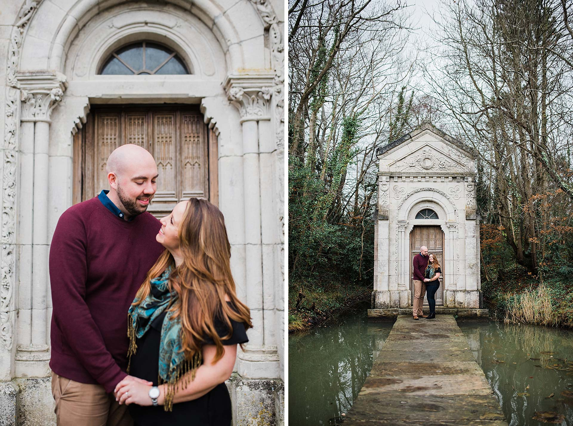 engagement portrait collage by Kathy Silke photography