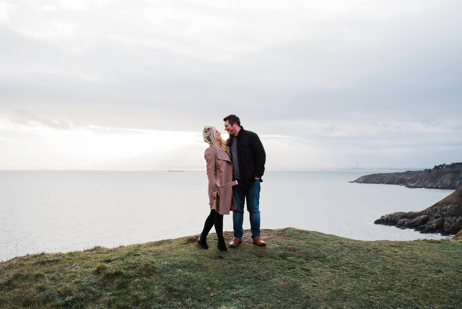 Engagement Photography at Howth Cliffs by Kathy Silke Photography