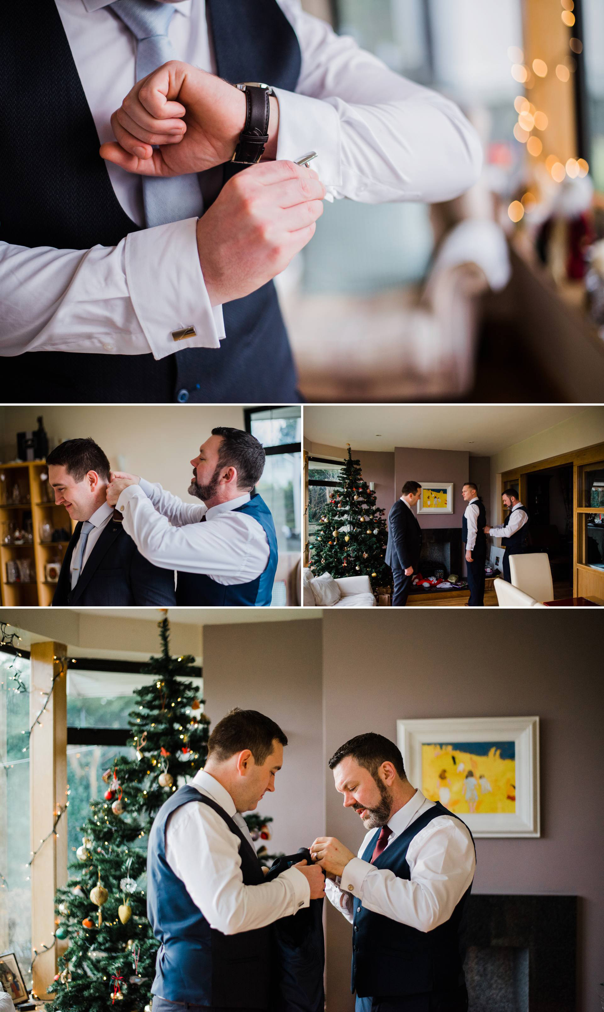 multiple image collage by Dublin wedding photographer Kathy Silke Photography