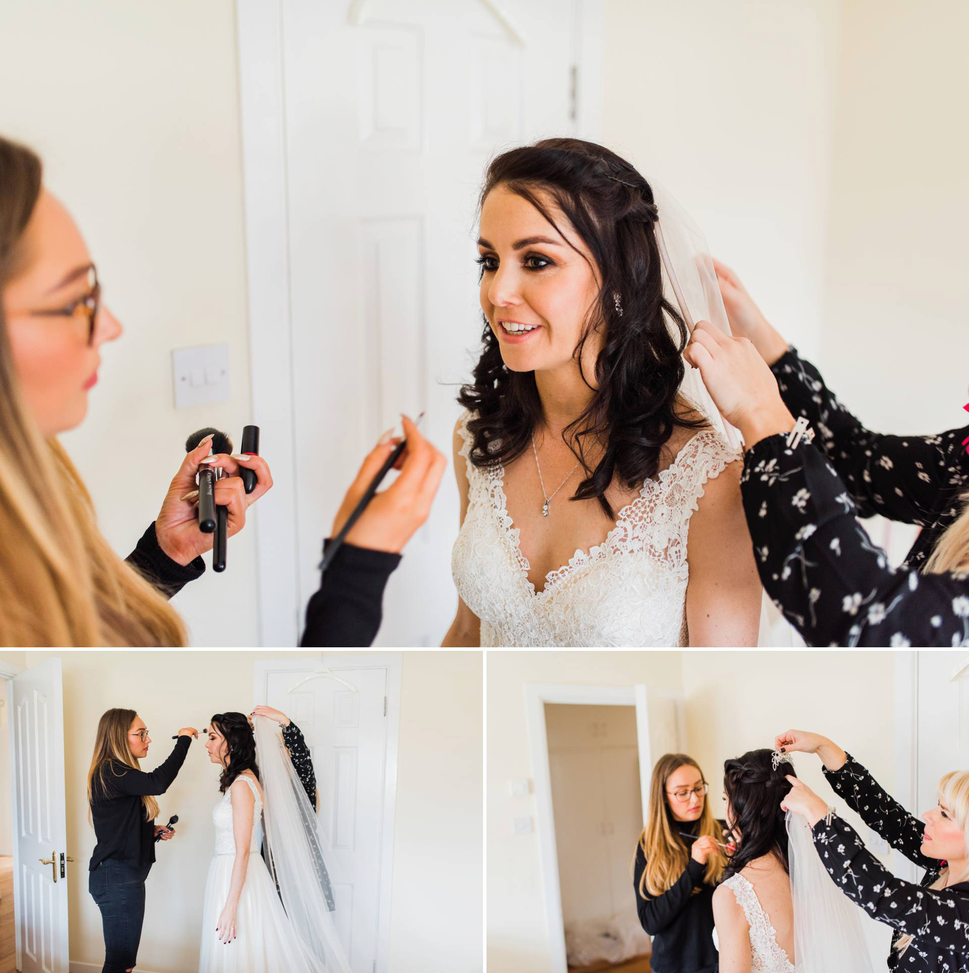 Irish Wedding Photographer Kathy Silke Photography documents bride getting ready for her wedding