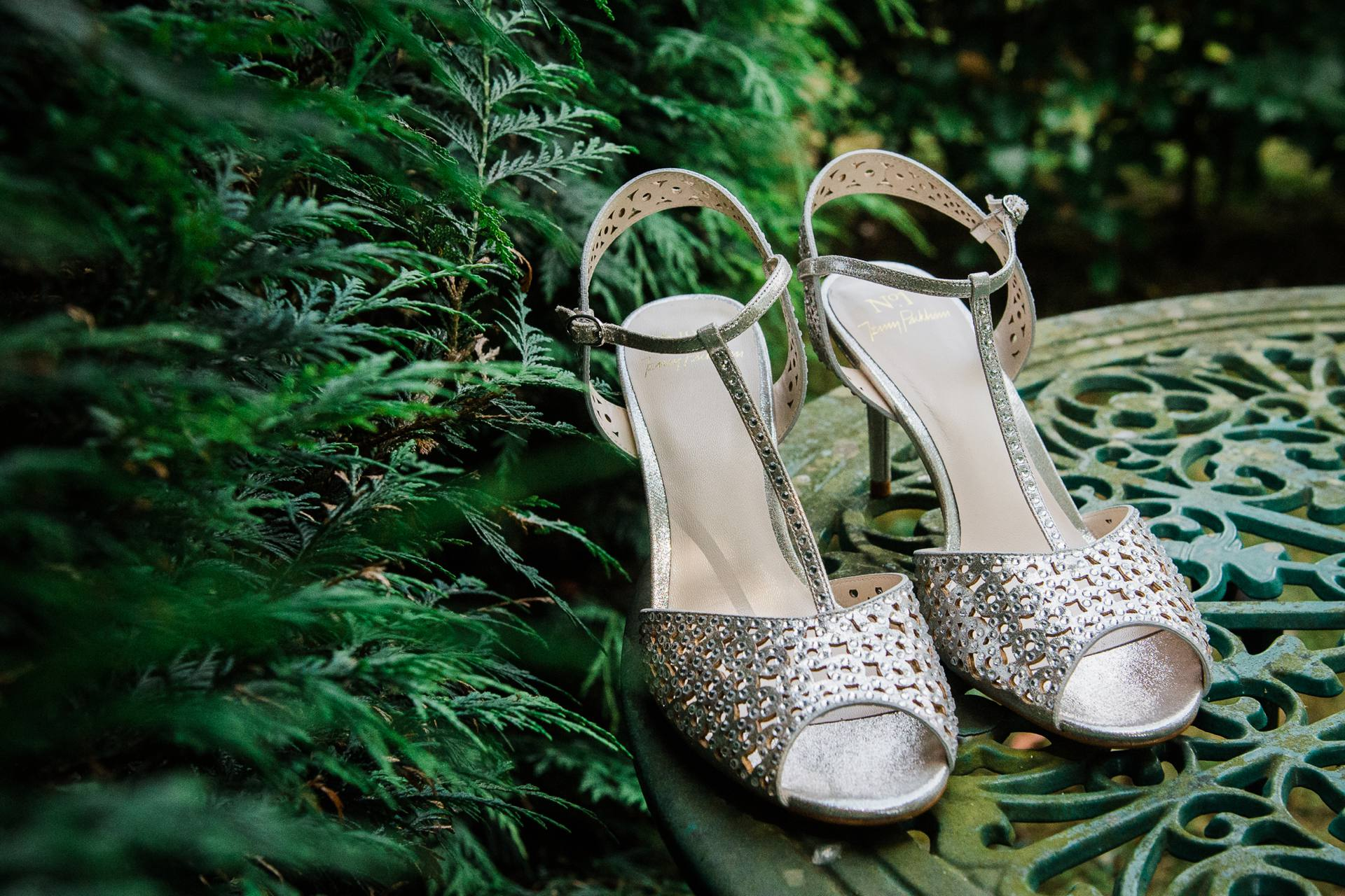 Jenny Packham silver shoes