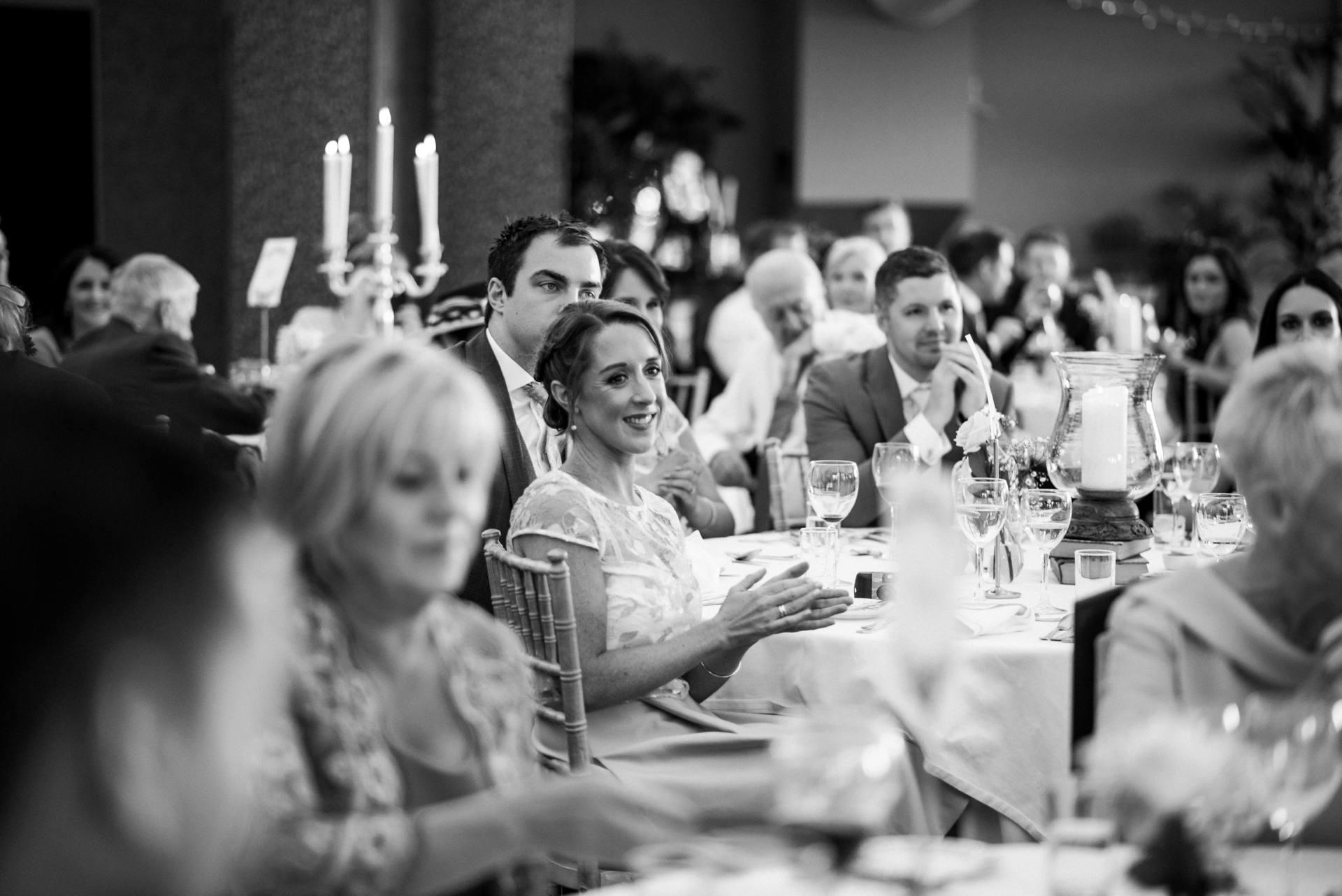 Guests at a wedding