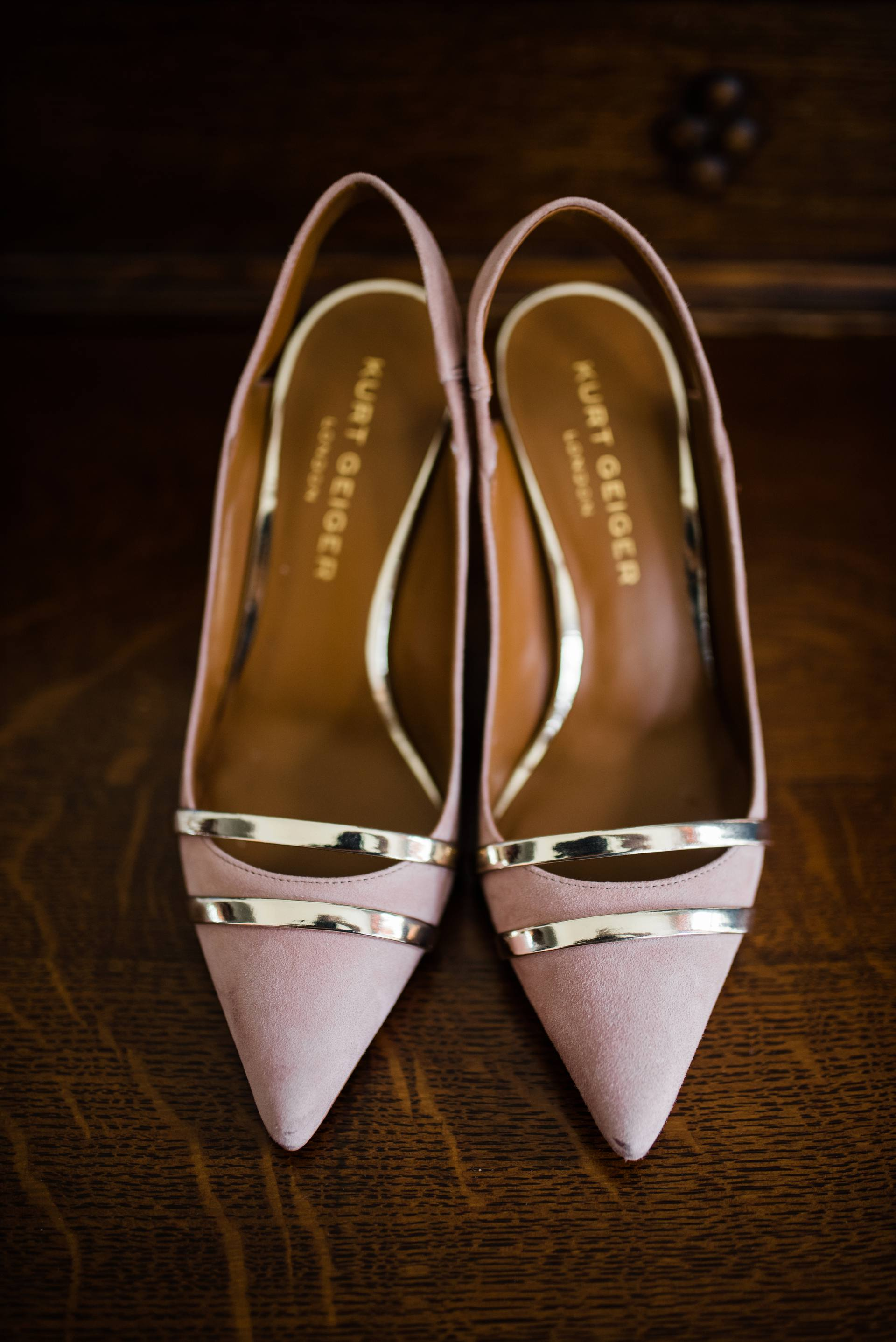 Kurt Geiger blush pink shoes
