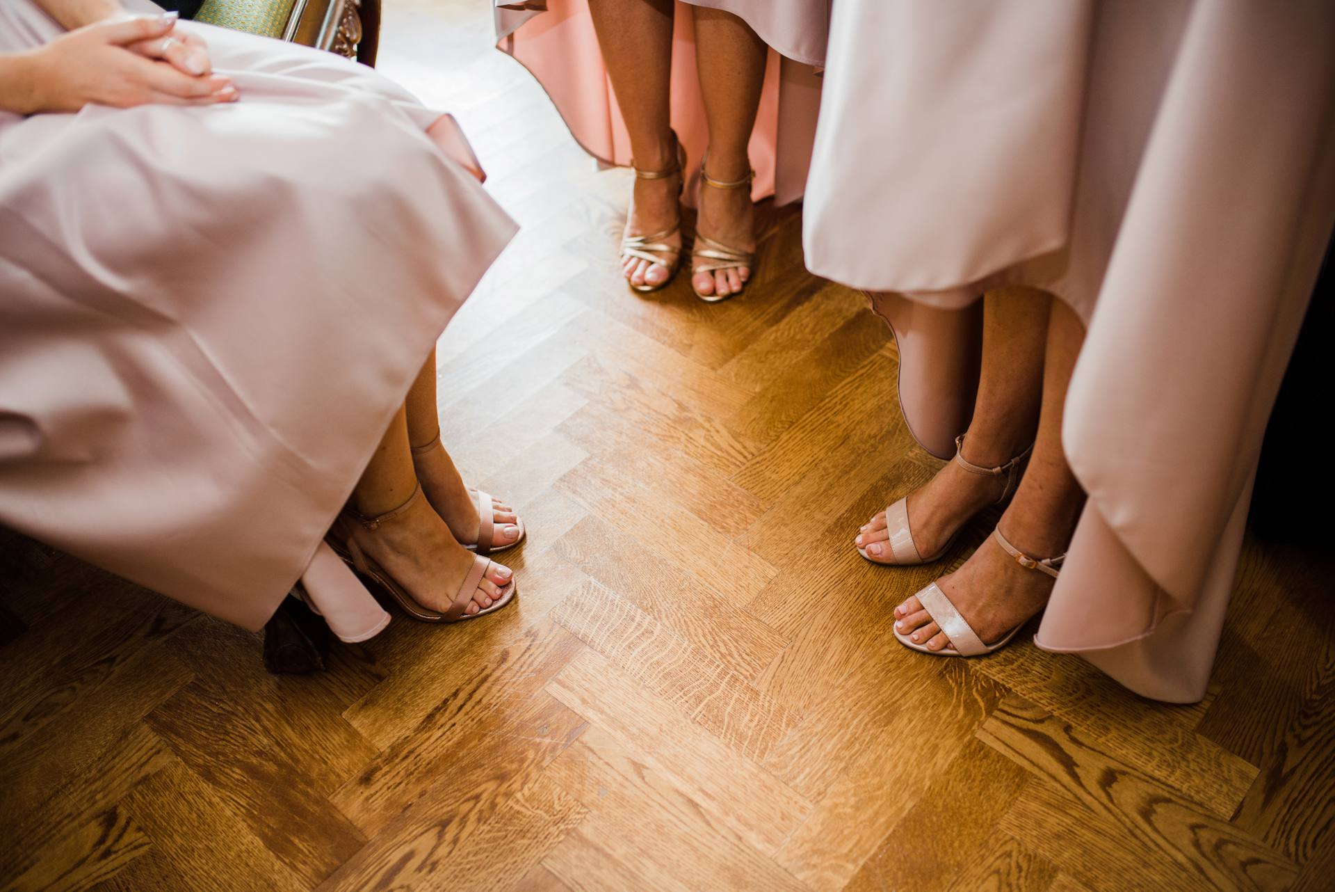 Bridesmaids shoes and skirts