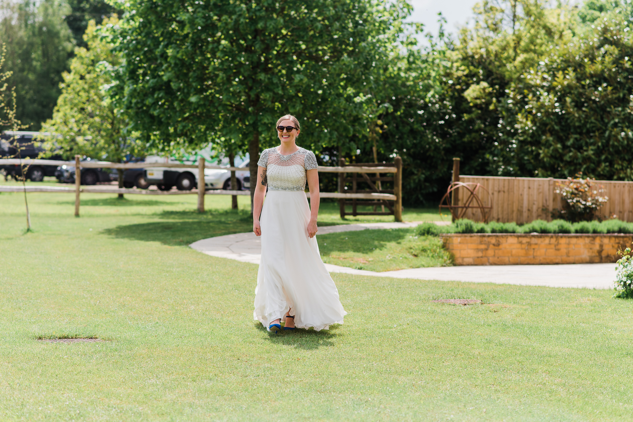 Bride in First Look at Lapstone Barn