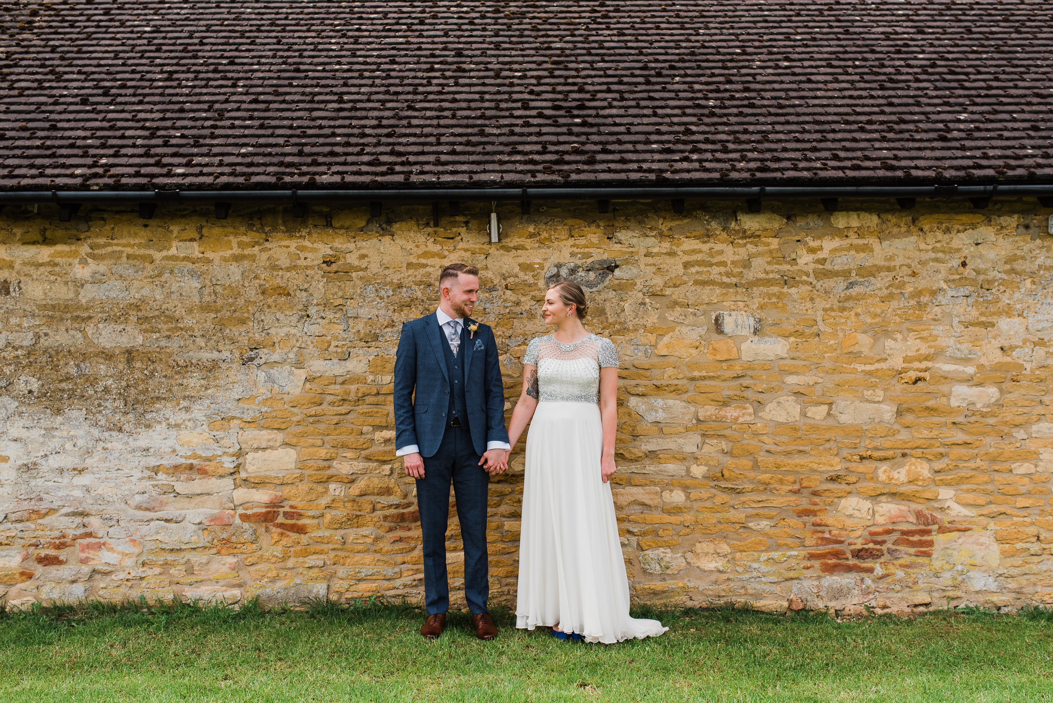 Bride and groom at Lapstone Barn wedding