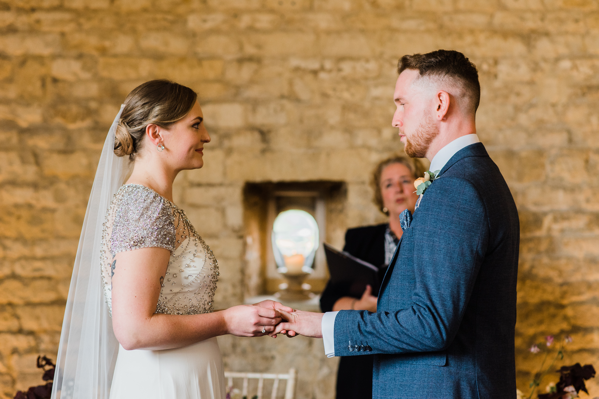 Ceremony in Lapstone barn