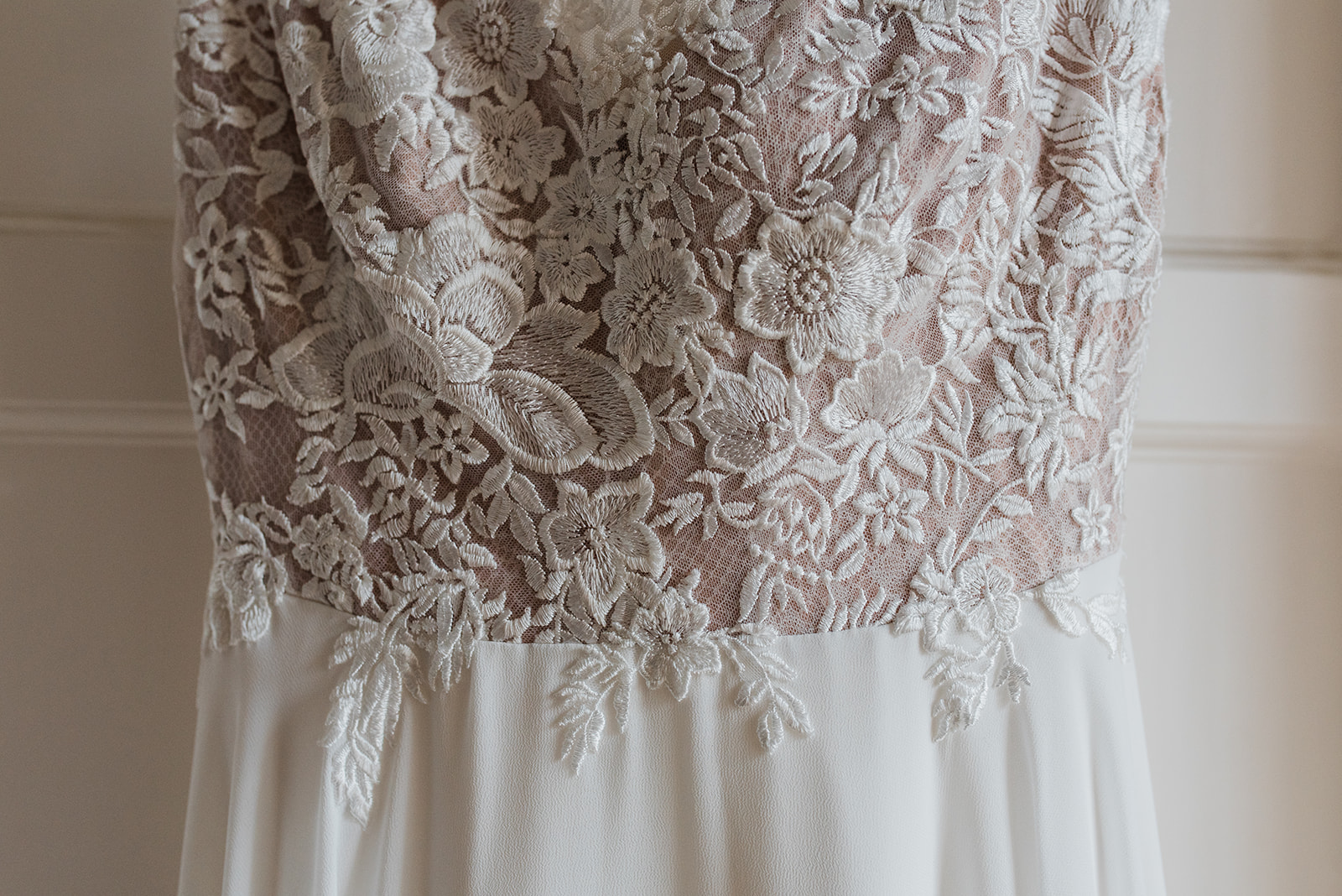 Wedding dress bodice detail