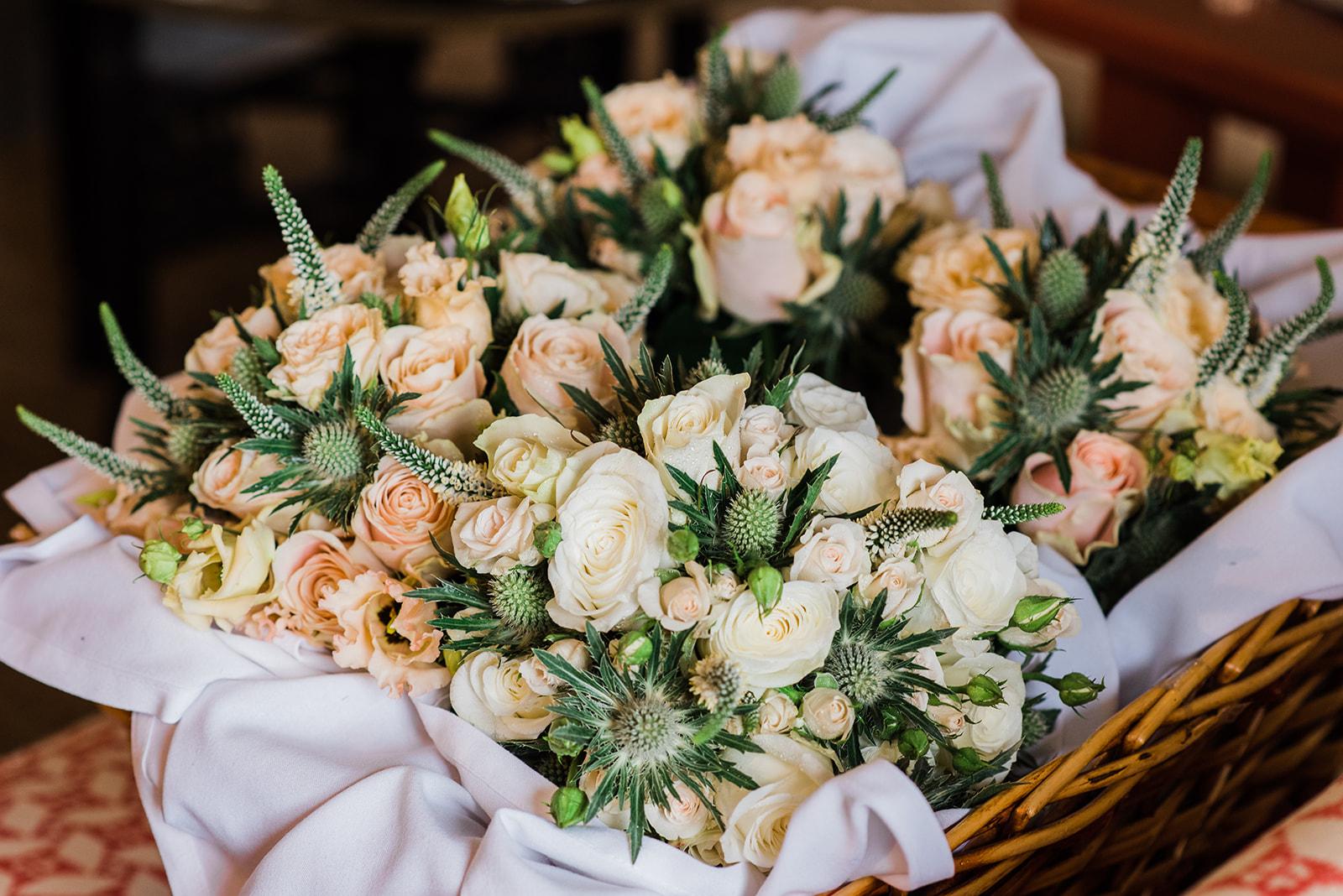 Bridesmaids flowers at Virginia Park Lodge