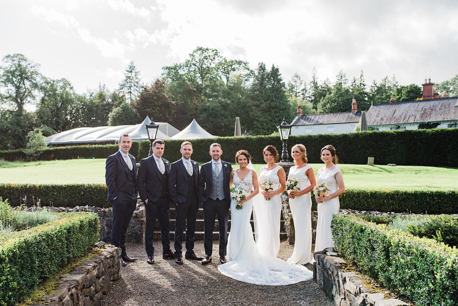 Bridal party intimate virginia park lodge wedding