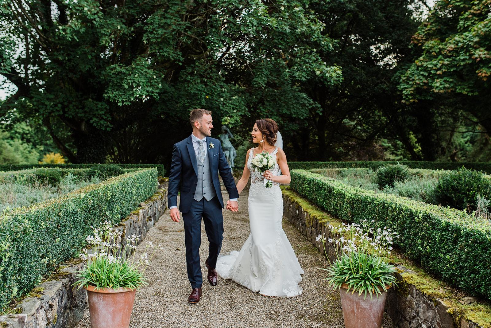 Bride and groom in Virginia Park Lodge