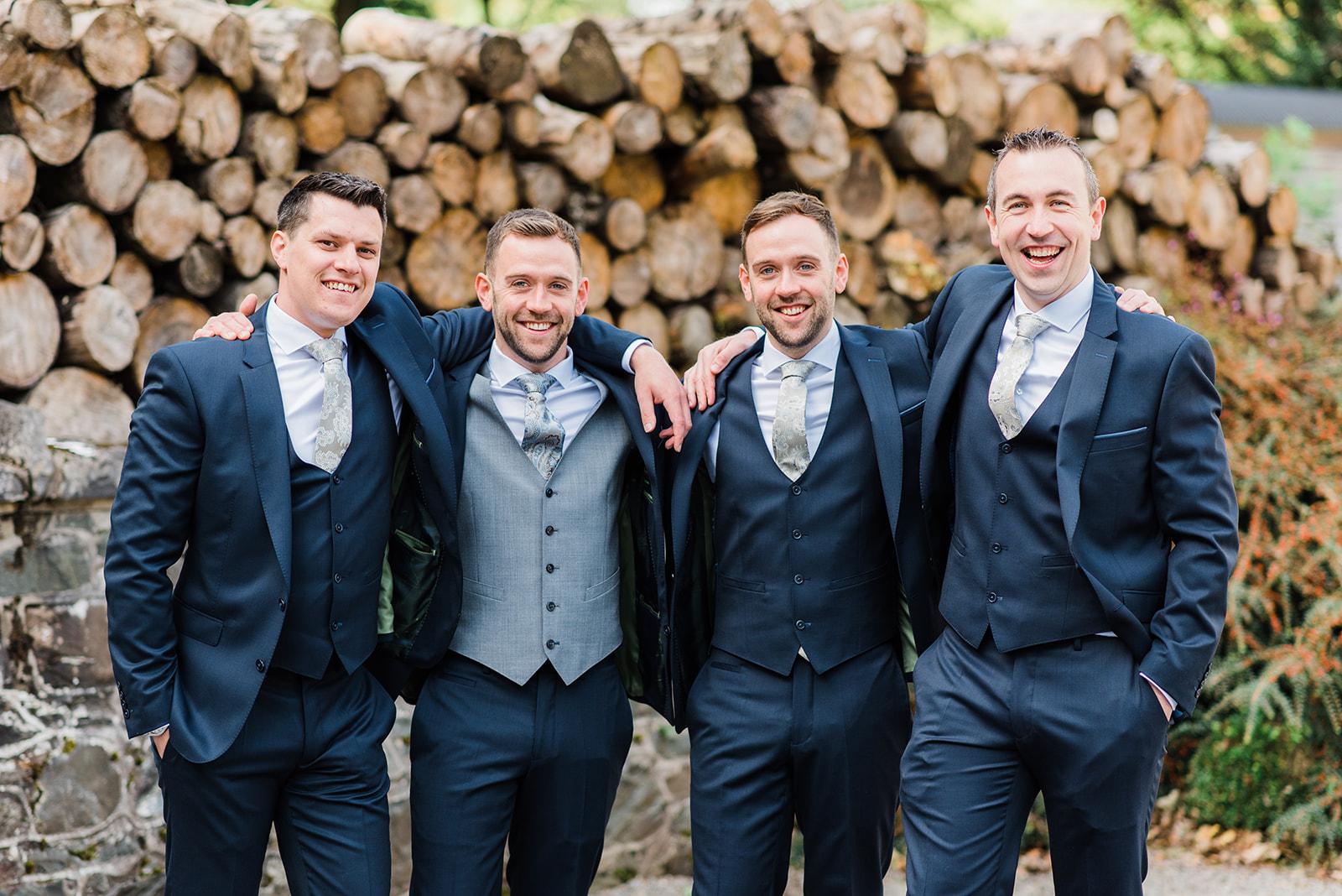 Groom with groomsmen at Virginia Park Lodge